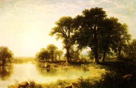Asher Brown Durand Summer Afternoon France oil painting art